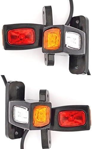 8 x 20 LEDs 24 V rojo chasis trasero contorno luces de g/álibo para remolque cami/ón caravana de camiones volquete