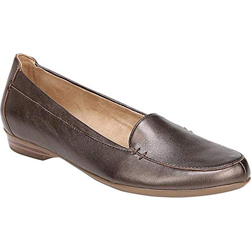 Naturalizer Womens Saban Leather Closed Toe Loafers, Brown Bronze, Size 6.5