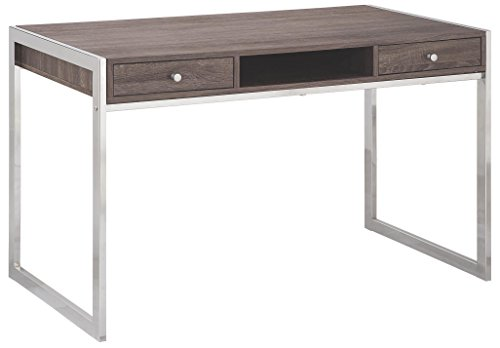 Coaster 801221 Home Furnishings Desk, Weathered Grey/Chrome by Coaster Home Furnishings