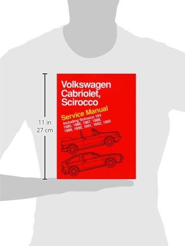volkswagen cabriolet scirocco service manual 1985 1986 1987 rh amazon com 1987 VW Rabbit 1987 VW Rabbit