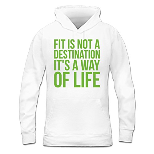 Sudadera con capucha de mujer Fit Is Not A Destination by Shirtcity Blanco
