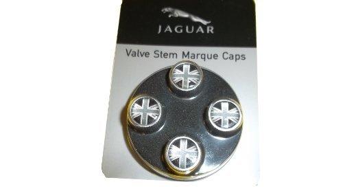Jaguar OEM Accessory Union Jack Valve Stem Caps ()
