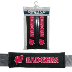 - Wisconsin Badgers Velour Seat Belt Pads