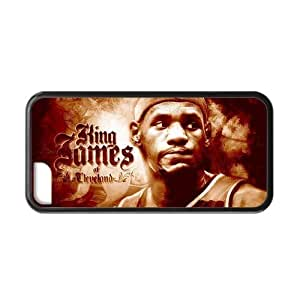 Hoomin Lebron James Excellent Basketball Player iPhone 5C Cell Phone Cases Cover Popular Gifts(Laster Technology)