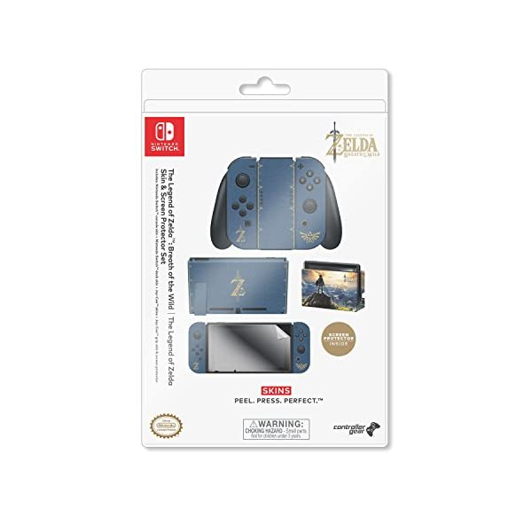 """Controller Gear Nintendo Switch Skin & Screen Protector Set, Officially Licensed By Nintendo - The Legend of Zelda Breath of the Wild """"The Legend of Zelda"""" - Nintendo Switch 8"""