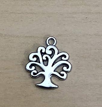 ZAMA Ciondolo metallo albero della vita cuore 4cm decorazione bomboniera