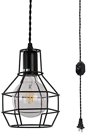 Adjustable Switch Cage Hanging Pendant Light