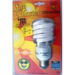 Compact Flourescent Full Spectrum Lighting 26 WATTS Healthy, Energy Efficient, Indoor Lighting by SunBlaster