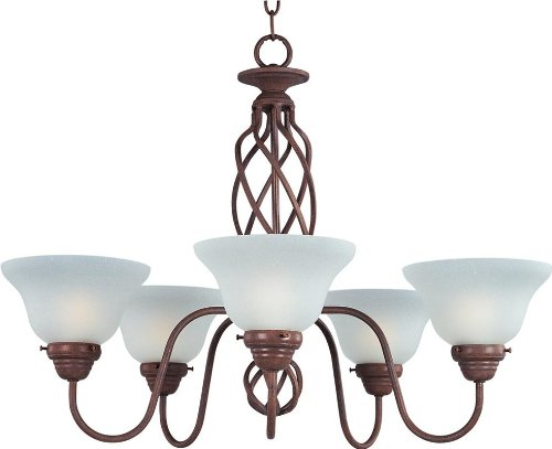 Maxim 8893CS Foothills Forge 5-Light Chandelier Country Stone For Sale