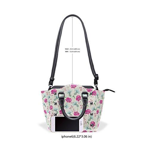 Women's Tote TIZORAX Cute TIZORAX Shoulder Leather Floral Bags Cute Handbags Floral wXq05gw