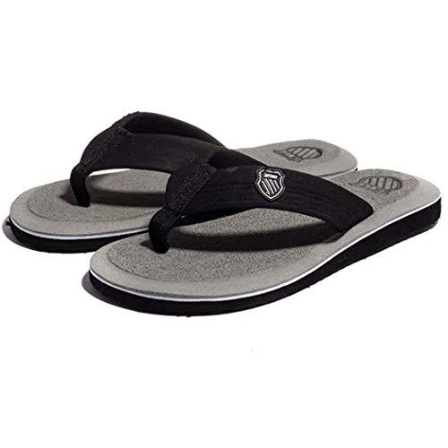 Gray Mens Sandals - Kaimu Men Flip Flops Casual Breathable Comfortable Summer Beach Slipper Footwear Sandals Gray
