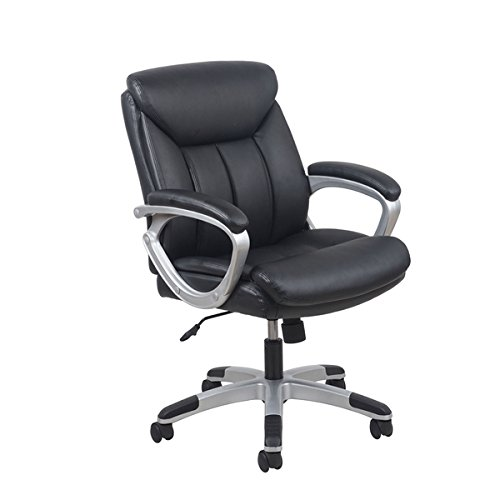 Collection Theater Black Seating (OFM Essentials Black Leather Office Chair with Lumbar Support)