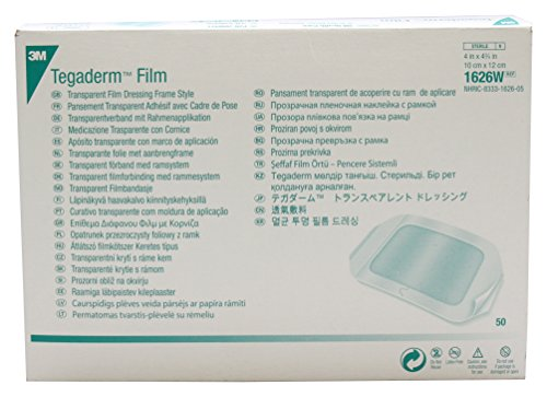 3M Health Care 1626W Tegaderm Film Dressing, Frame Style, Rectangle, 4.75