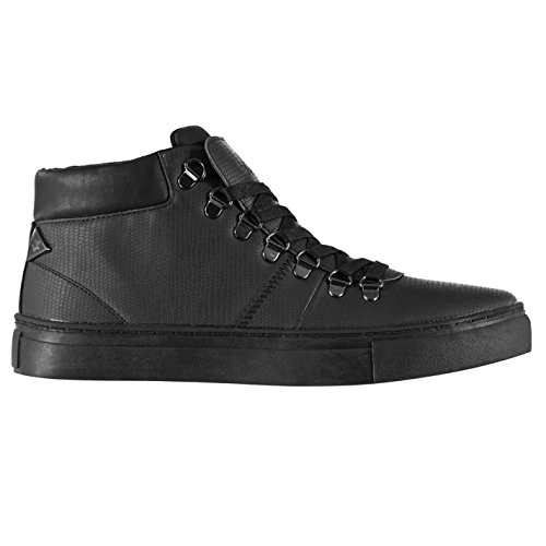 Soviet Mens Bosman Chukka Boots Lace Up Padded Shaped Ankle Collar Shoes Black xNBtJgDm
