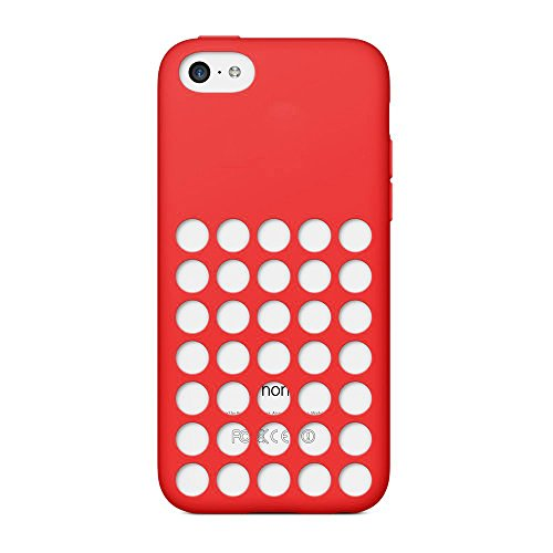 iProtect Silikon Schutzhülle iPhone 5c Case hollow dots rot