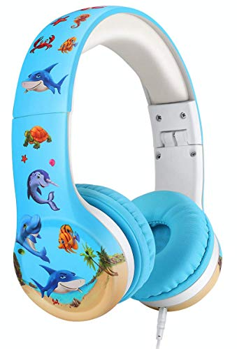 Nenos Kids Headphones Limited Volume Headphones for Kids Boys Girls Children School Headphones Toddler Classroom Over Head