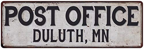 Chico Creek Signs Duluth, Mn Post Office Personalized Metal Sign Vintage 8 x 24 Matte Finish Metal 108240011368 (Duluth Furniture Mn)