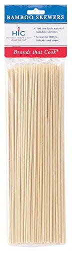 HIC-Bamboo-BBQ-Kabob-and-Grill-Skewers-10-Inches-Long-Set-of-100