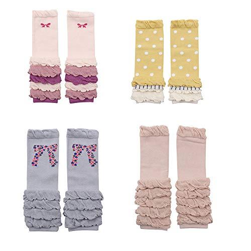 Cartoon Unisex Baby Socks Knee High Boys Girls Leg Warmer Animal Infant Toddler Kneepads Socks (4 Pairs-E)