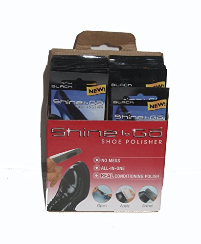 (Shine To Go Shoe Polisher, Black (Pack of 24) )