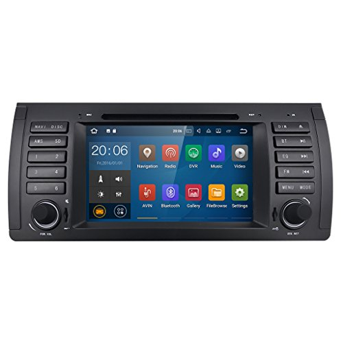 Android 7.1 Car GPS Navigation for BMW E39 E38 M5 X5 5 Series HIZPO in Dash Radio DVD Player support 4G/WiFi/OBD2/DAB+/DTV/TPMS by HIZPO