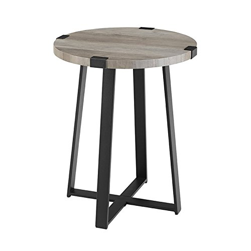 WE Furniture AZF18MWSTGW Side Table, Grey Wash