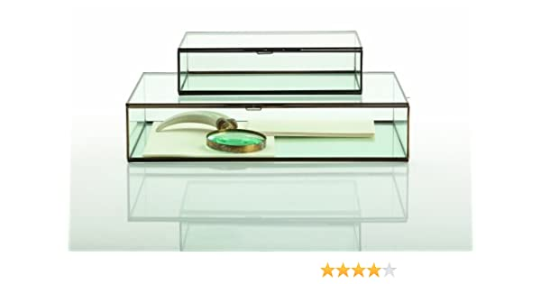 0bbae29a433 Amazon.com  Arteriors Fuller Large Glass Document Box  Home   Kitchen
