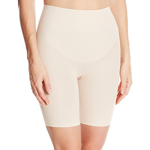 Wacoal Women's Zoned 4 Shape Long Leg Shaper, Sand, Large (Extra Firm Control Long Leg)