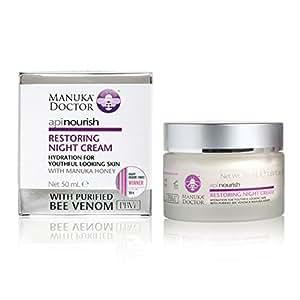 Manuka Doctor Apinourish Restoring Night Cream, Linen, 1.7 Fluid Ounce