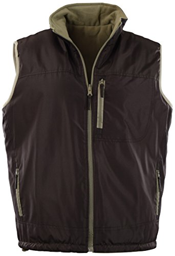 - ChoiceApparel Mens Basic Padded Windbreaker Puffer Vests (Many Styles to Choose from) (S, 408-Brown)