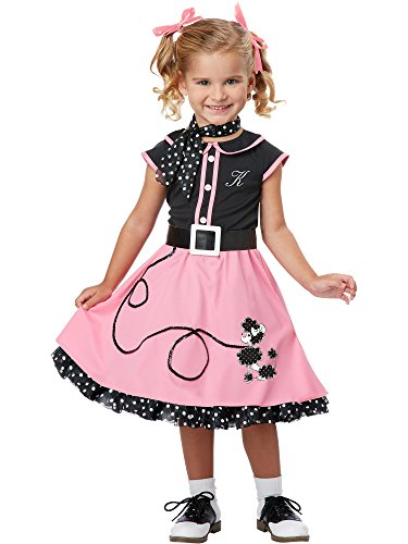 California Costumes 50's Poodle Cutie Toddler Costume, 3-4