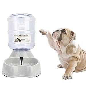 Old Tjikko Dogs Water Dispenser,Water Bowl for Dogs,Pet Water Dispenser,Automatic Dog Water Bowl Cat Water Dispenser Dog Drinking Fountain,1 Gallon (1 Gallon)
