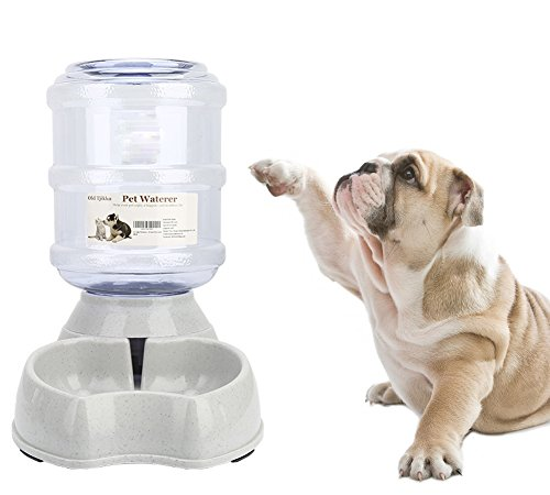 Old Tjikko Dog Water Dispenser,Pet Water Dispenser Station,1 Gallon Water Drinking Fountain Bottle Bowl For Cat Dog