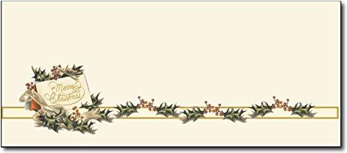 Vintage Christmas Holly #10 Envelopes - 40 Envelopes