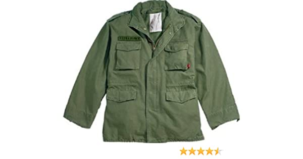 Amazon.com  Olive Drab Military Vintage M-65 Field Jacket 8603 Size  3X-Large  Military Coats And Jackets  Clothing ce787315c17