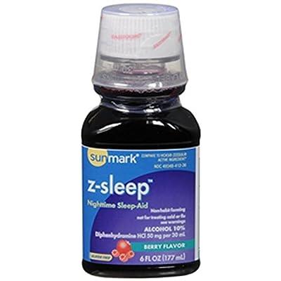 Sunmark Z-Sleep Nighttime Sleep-Aid, Berry Flavor - 6 oz