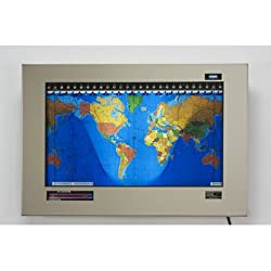 Original Kilburg Geochron World Clock Finish: Stainless Steel Polished