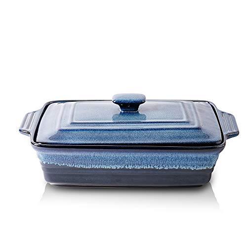 KOOV Ceramic Covered Rectangular Casserole Dish with Lid
