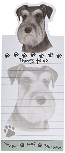 """Schnauzer Magnetic List Pads"" Uniquely Shaped Sticky Notepad Measures 8.5 by 3.5 Inches"