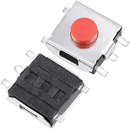 uxcell マイクロタクトスイッチ 押しボタン SPST 6x6x3.1mm PCB SMD SMT 55枚入り
