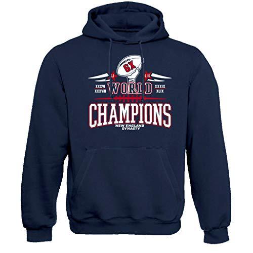 New England Six Times Champions Hoodie Sweatshirt (L) Navy
