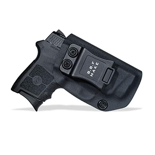 B.B.F Make IWB KYDEX Holster Fit: Smith & Wesson M&P Bodyguard 380 Auto & Integrated Laser | Retired Navy Owned Company | Inside Waistband | Adjustable Cant (Black, Right Hand Draw (IWB))