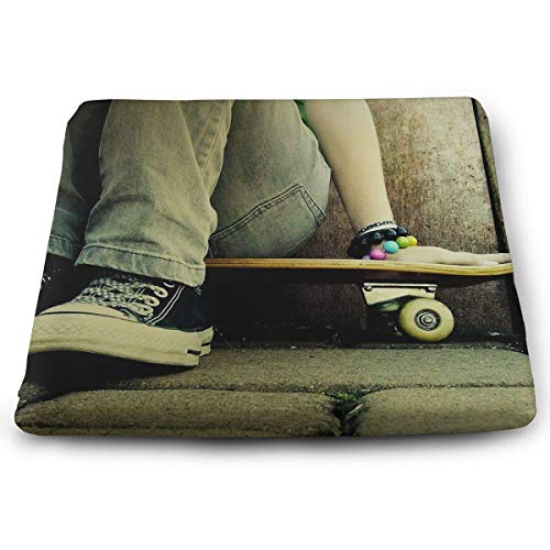 (Comfortable Seat Cushion Chair Pad Cool Jeans Shoes Skateboards Perfect Memory Foam Cushions Lighten The Bumps)