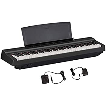 yamaha p121 73 key weighted action compact digital piano black musical instruments. Black Bedroom Furniture Sets. Home Design Ideas