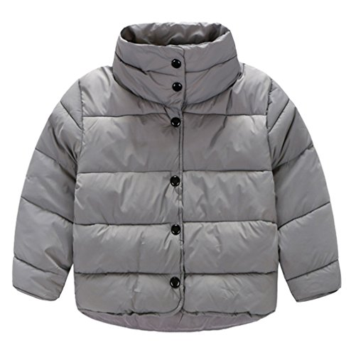 Button Coat Outwear Stand Lemonkids Boys Jacket Infant Down Down Chic Gray Collar aTqvXn0q