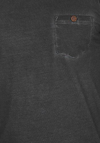 En Algodón Pecho Larga De Hombre Longsleeve El 9000 Para Terkel Manga V Bolsillo solid Camiseta Básica Black Con neck 100 OTcxfZwxq