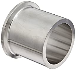Dixon 14MPW-R150 Stainless Steel 316L Sanitary Fitting, Heavy Wall Tank Weld Clamp Ferrule, 1-1/2\