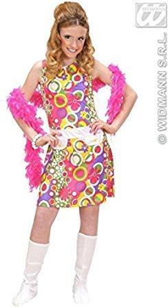 Children's 70s Girl Costume Large 11-13 Yrs (158cm) For 1970's Disco Hippy