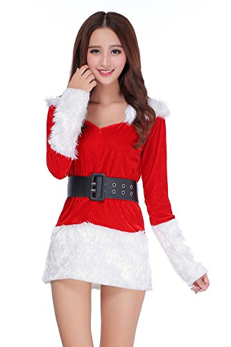 [DH-MS Dress Christmas Dress Unisex Seductive Suit Set Foreign Trade Christmas Cosplay Apparel(Red)] (Abba Jumpsuit Costume)
