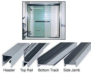 Frameless Sliding Shower Door Header - 7